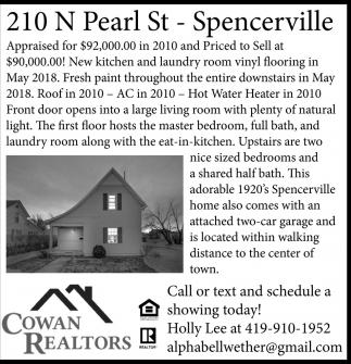 210 N Pearl St. - Spencerville