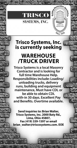 Warehouse / Truck Driver