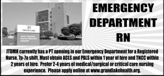 Emergency Deartment RN