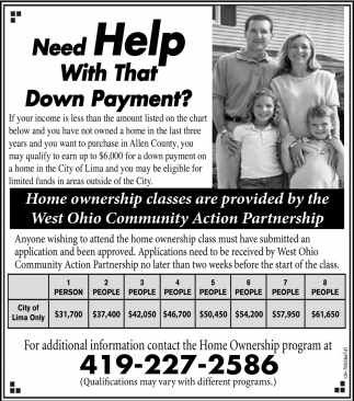 Need help with that Down Payment?