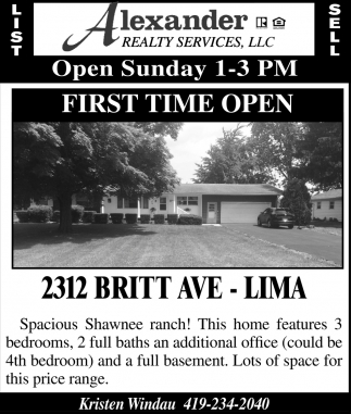 2312 Britt Ave. Lima
