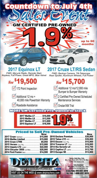Countdown to July 4th Sales Event