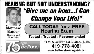 Call today for a free hearing exam