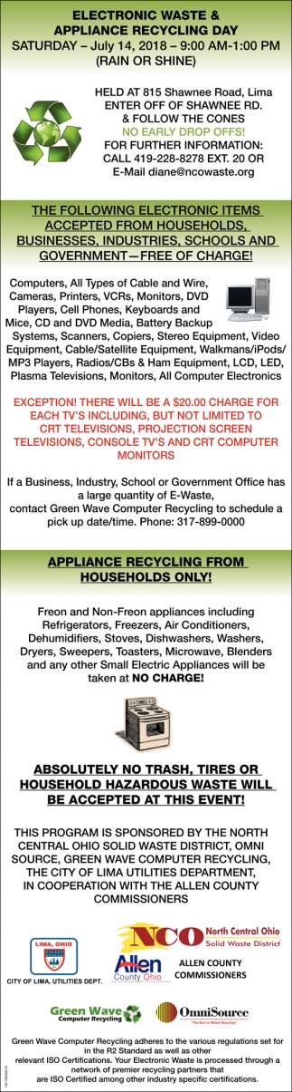 Electronic Waste & Appliance Recycling Day