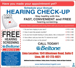 Annual Hearing Check-Up