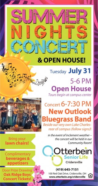 Summer Nights Concert & Open House