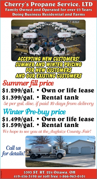 Specialized in installing and refilling propane tanks, regulators, cylinders and more