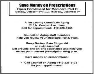 Save money on prescriptions!