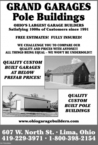 Quality custom built pole buildings