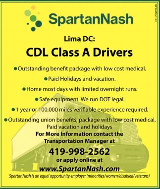 CDL Class A Drivers