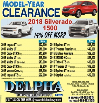 Model-Year Clearance