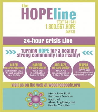 The Hope Line 24 Hour Crisis Line Mental Health Recovery