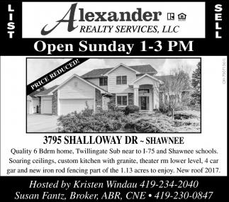 3795 Shalloway Dr.