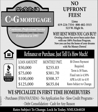 We specialize in first time homebuyers