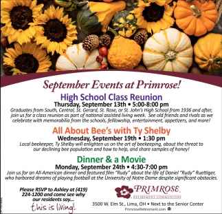 September Events at Primrose