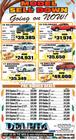 Model Sell Down Going on NOW!