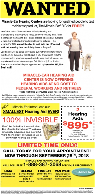 Miracle Ear RIC for FREE