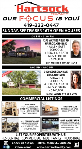 Sunday, September 16th Open Houses