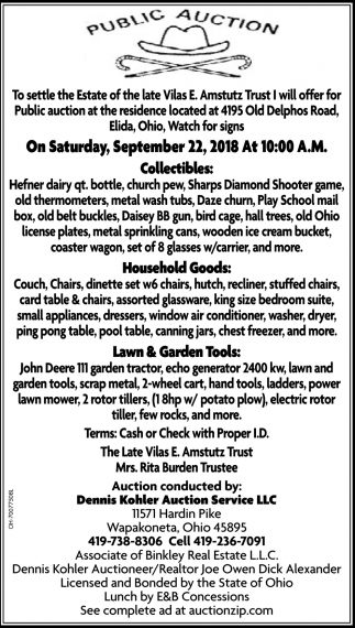Collectibles, Household Goods, Lawn & Garden Tools