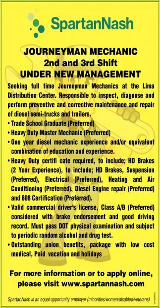 Journeyman Mechanic, Under New Management