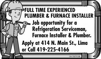 Plumber & Furnace Installer
