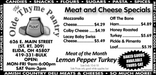 Meat and Cheese Special