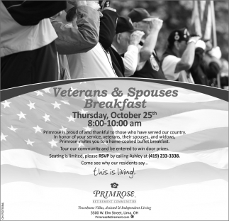 Veterans & Spouses Breakfast