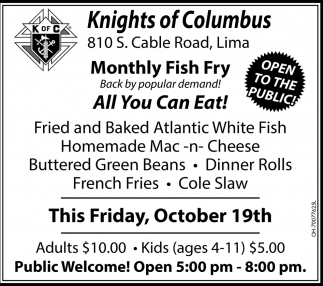 Monthly Fish Fry