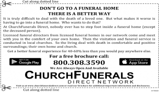 Don't go to a funeral home there is a better way