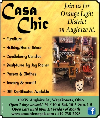 Orange Light District on Auglaize St.