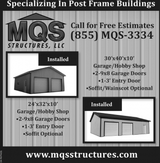 Specializing in Post Frame Buildings