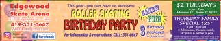 Roller Skating Birthday Party