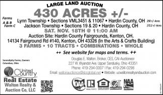 Lange Land Auction 430 Acres +/-
