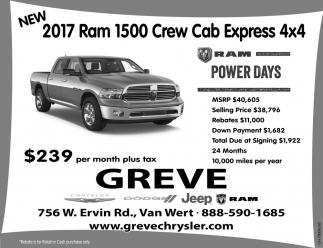 NEW 2017 Ram 1500 Crew Cab Express 4x4
