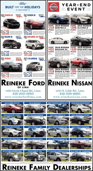 Built for the Holidays Sales Event / Nissan Year-End Event