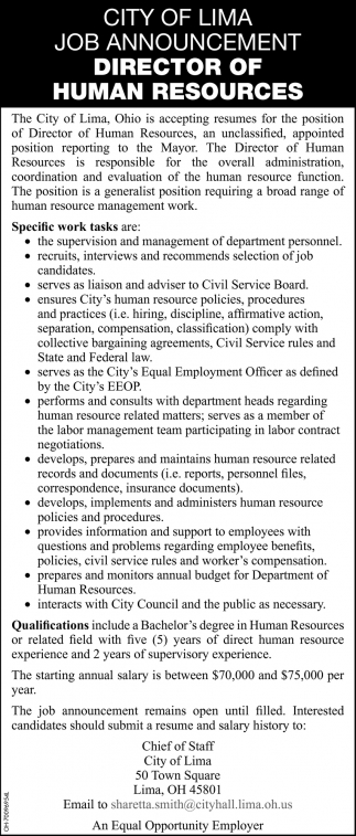 Director of Human Resources