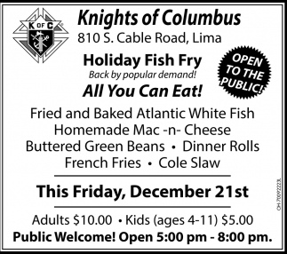 Holiday Fish Fry