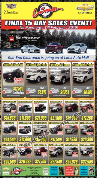 Final 15 day sales event!