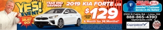 Yes Event! Year End Savings