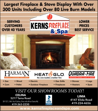 Fireplaces, stoves, heaters, logs