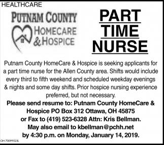 Part Time Nurse