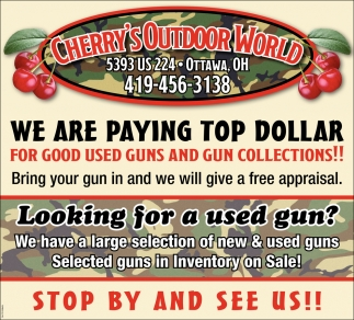 We are paying top dollar for good used guns and gun collections!