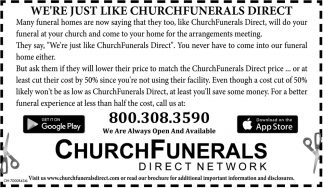 We're just like churchfunerals direct
