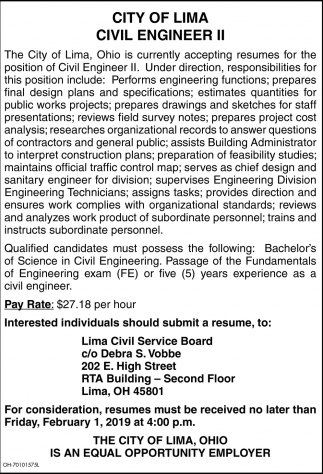 Civil Engineer II