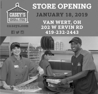 Store Opening January 18, 2019