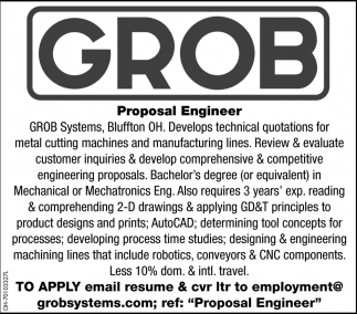 Proposal Engineer