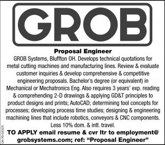 Proposal Engineer