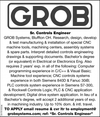 Sr. Controls Engineer