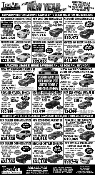 A very happy new year sales event