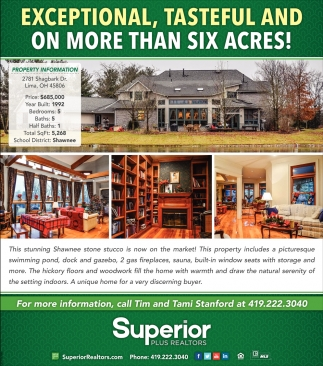 Exceptional, tasteful and on ore than six acres